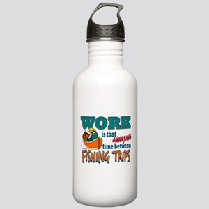 Work vs Fishing Trips Stainless Water Bottle 1.0L