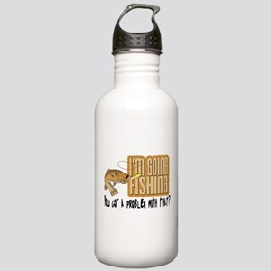 I'm Going Fishing Stainless Water Bottle 1.0L