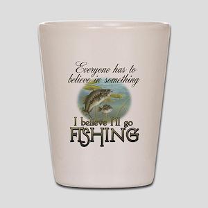 Believe in Fishing Shot Glass