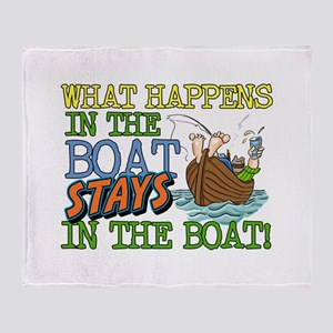 STAYS IN THE BOAT Throw Blanket