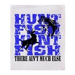 Hunt Fish Throw Blanket