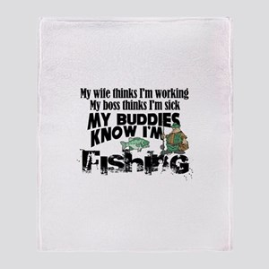 My Buddies Know Throw Blanket