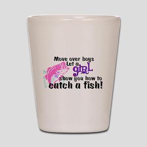 Move Over Boys - Fish Shot Glass