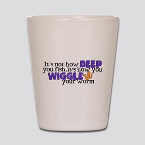 Wiggle your worm Shot Glass