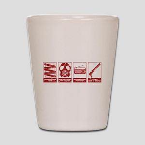 In Case Of Zombie Apocalypse Shot Glass