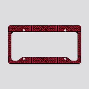 Celtic Knot Red License Plate Holder