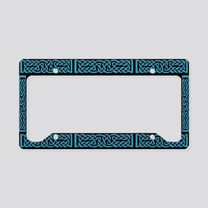 Celtic Knot Blue License Plate Holder