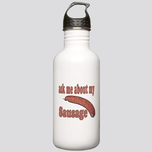 Ask Me About My Sausage Stainless Water Bottle 1.0