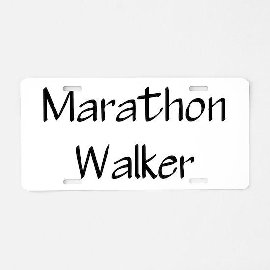 Funny Half marathon Aluminum License Plate