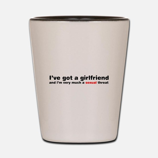 Im A Sexual Threat Shot Glass