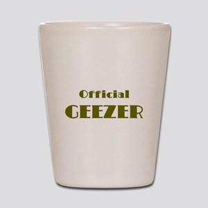 Official Geezer Shot Glass