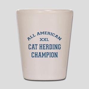 AA Cat Herding Champion Shot Glass