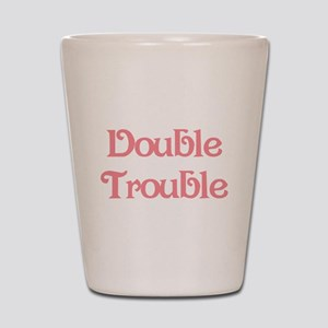 Double Trouble Pink Shot Glass
