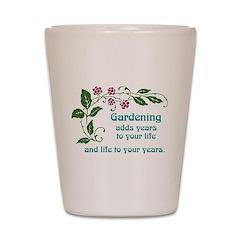 Gardening adds Years Shot Glass