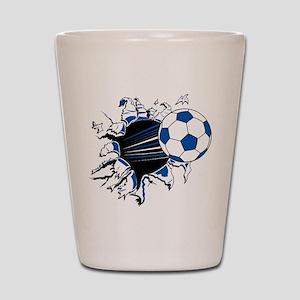 Soccer Ball Burst Shot Glass