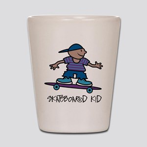Skateboard Kid Shot Glass