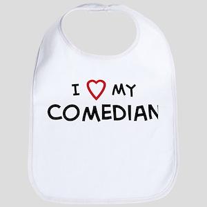 I Love Comedian Bib