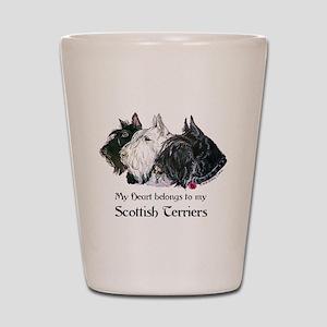 Scottish Terrier Trio Shot Glass