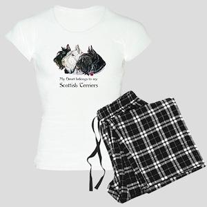 Scottish Terrier Trio Women's Light Pajamas