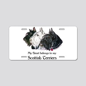Scottish Terrier Trio Aluminum License Plate