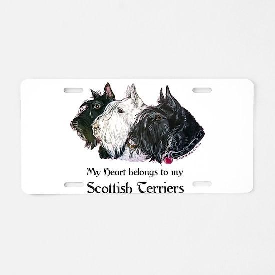 Scottish Terrier Trio Aluminum License Plate