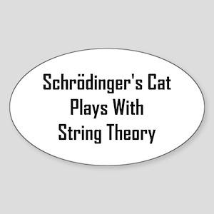Schrodinger's Cat Plays Sticker (Oval)