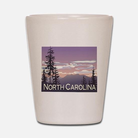 North Carolina Mountains Shot Glass