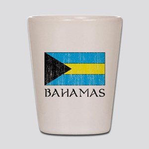 Bahamas Flag Shot Glass