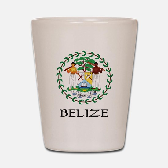 Belize Coat of Arms Shot Glass