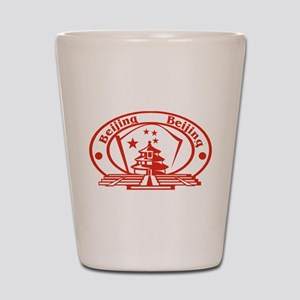 Beijing Passport Stamp Shot Glass