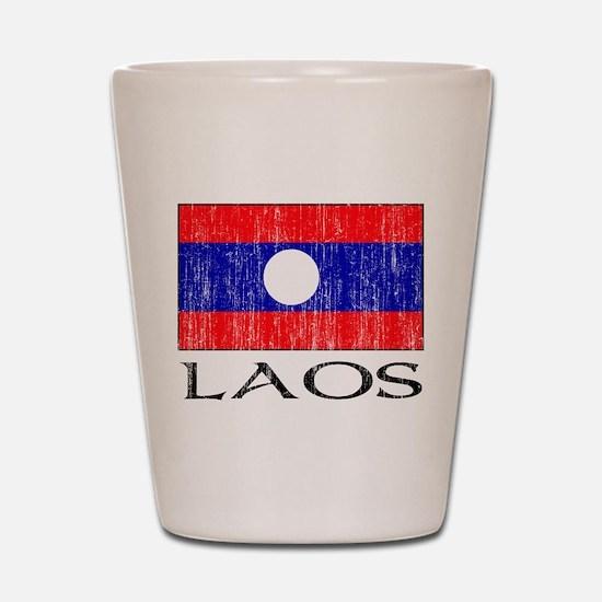 Laos Flag Shot Glass
