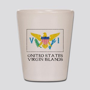 US Virgin Islands Flag Shot Glass