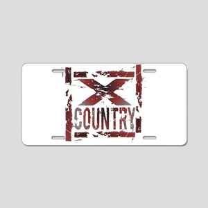 Cross Country Aluminum License Plate