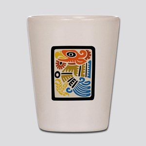 Mexican Aztec Eagle Shot Glass