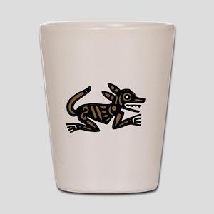 Tribal Dog Shot Glass