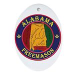 The Alabama Freemason Ornament (Oval)