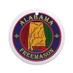The Alabama Freemason Ornament (Round)