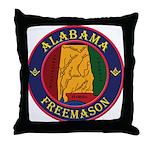 The Alabama Freemason Throw Pillow