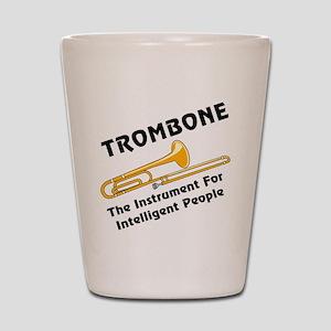 Trombone Genius Shot Glass