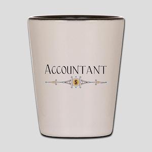 Accountant Decorative Line Shot Glass