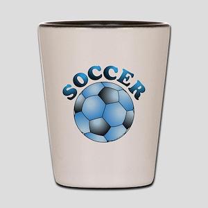 Blue Soccer Shot Glass