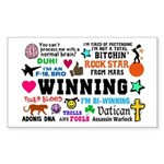 Quotes Sticker (Rectangle)