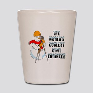 Coolest Civil Engineer Shot Glass