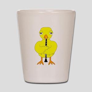 Clarinet Chick Shot Glass