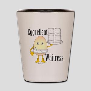 Eggcellent Waitress Shot Glass