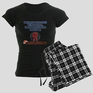 Spirit Of The Season Women's Dark Pajamas