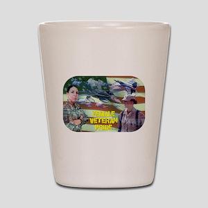 Female Veteran Pride Shot Glass