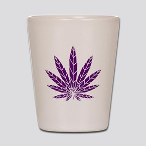 Purple Leaf Shot Glass