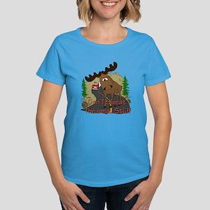 Moose humor Women's Dark T-Shirt