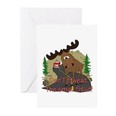 Moose humor Greeting Cards (Pk of 10)